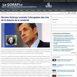 Nicolas Sarkozy souhaite l'abrogation des lois de la théorie de la relativité