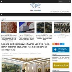 Les rats quittent le navire ! Après Londres, Paris, Berlin et Rome souhaitent...