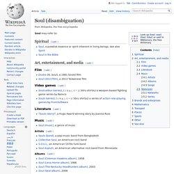 Soul (disambiguation) - Wikipedia