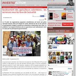 Soulèvement des agriculteurs colombiens: les semences sous les feux de l'actualité