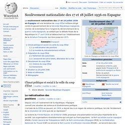 Soulèvement nationaliste des 17 et 18 juillet 1936 en Espagne