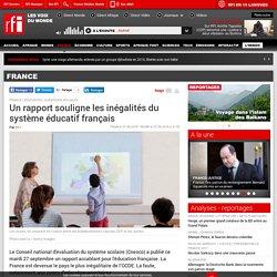 Un rapport souligne les inégalités du système éducatif français