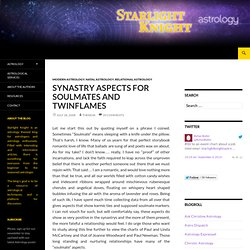 Synastry Aspects for Soulmates and Twinflames