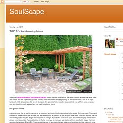 SoulScape: TOP DIY Landscaping Ideas