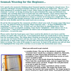 Soumak Weaving for the Beginner