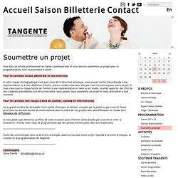 Tangente- Soumettre un projet