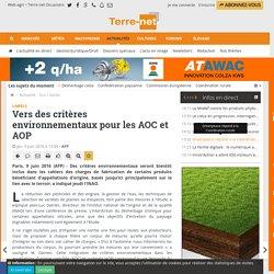 AFP 09/06/16 Labels - Vers des critères environnementaux pour les AOC et AOP