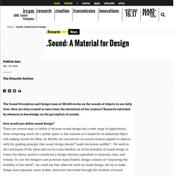 Sound: A Material for Design