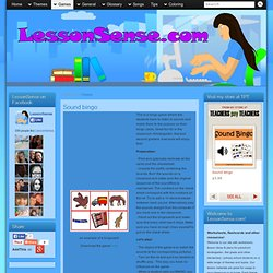 Sound bingo » LessonSense.com