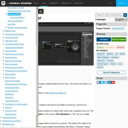 Sound Cue Editor