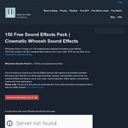 Cinematic Whoosh Sound Effects