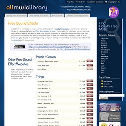Free Sound Effects - All Music Library