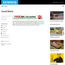 Sound Matrix | SEMBEO