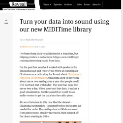 Turn your data into sound using our new MIDITime library
