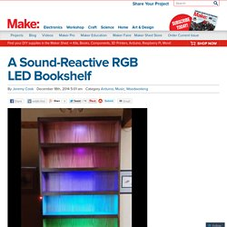 A Sound-Reactive RGB LED Bookshelf