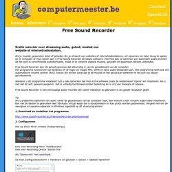 Free Sound Recorder - voor het opnemen van audio