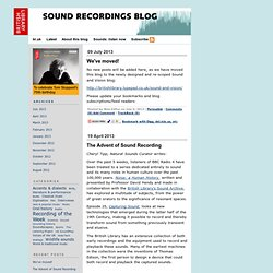 Sound Recordings Blog