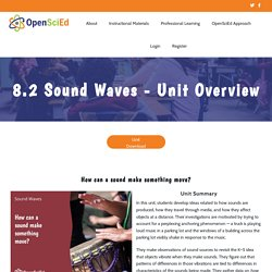 8.2 Sound Waves - Unit Overview - OpenSciEd