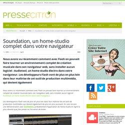 Soundation, un home-studio complet dans votre navigateur