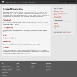 Soundation — Learn