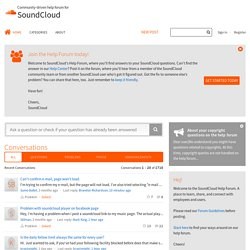SoundCloud Community Forum