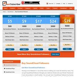 Buy Soundcloud Followers - 100% Active, Organic, Safe & Cheap rate