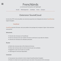 Extension SoundCloud « Frenchbirds