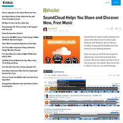 SoundCloud Helps you Share & Discover New, Free Music