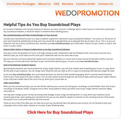Buy Soundcloud Plays - wedopromotion.net