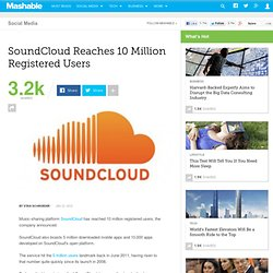 SoundCloud Reaches 10 Million Registered Users