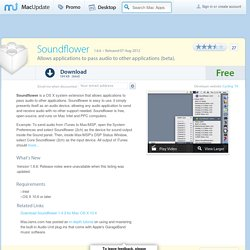 Download Soundflower for Mac - Allows applications to pass audio to other applications