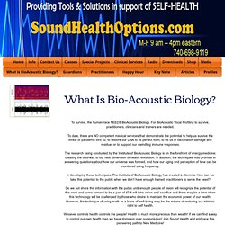 What is Bio-Acoustic Biology
