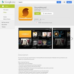 SoundHound - Apps on Android Market