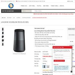 Loa Bose SoundLink Revolve/ Đen chính hãng giá tốt tại Bình Minh Digital