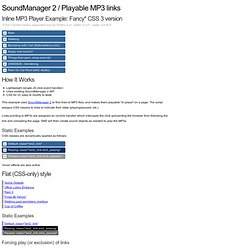SoundManager 2 Demo: Play MP3 Links on a page
