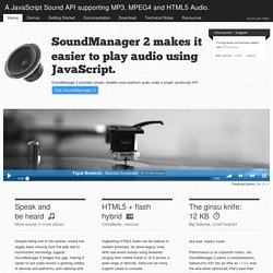 SoundManager 2: JavaScript Sound For The Web