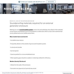 Noise Barrier Backed Composites