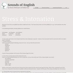 Stress & Intonation