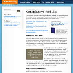 Sounds and Spellings: Comprehensive Word Lists