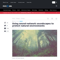 Using neural-network soundscapes to protect natural environments