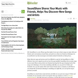 SoundShare Shares Your Music with Friends, Helps You Discover New Songs and Artists