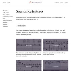 Soundslice features