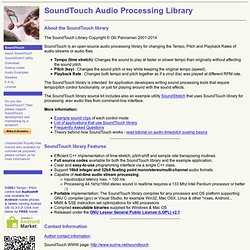 SoundTouch Sound Processing Library