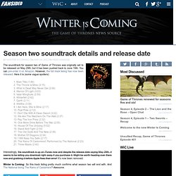Season two soundtrack details and release date