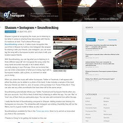 Shazam + Instagram = Soundtracking