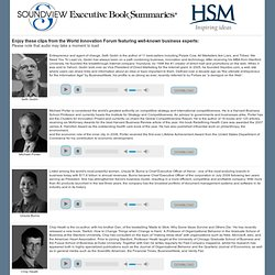 Soundview Executive Book Summaries and HSM - World Innovation Forum Audio Clips
