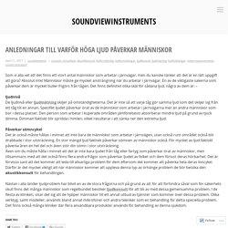 Anledningar till varför höga ljud påverkar människor – soundviewinstruments