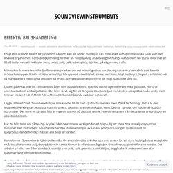 Effektiv brushantering – soundviewinstruments
