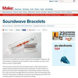 Soundwave bracelets