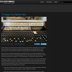 15 Steps To A Better Mix